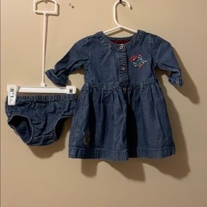 Girls 9 month Jean Dress with bloomers
